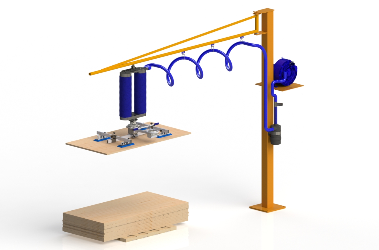 Panel Lifting Devices : Board and panel vacuum lifting tube systems protube